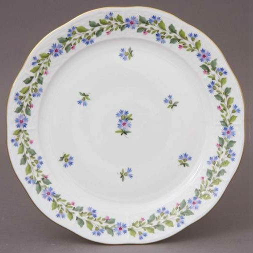 Dinner Plate - Rich Petit Blue Garland