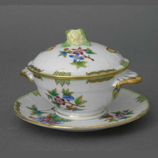 Soup Cup and Saucer, lemon Knob - Queen Victoria