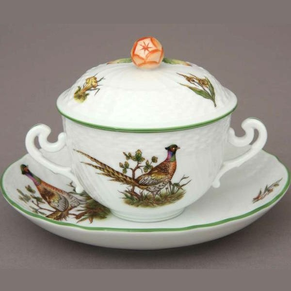 Soup Cup with Saucer, Bud Knob - CHTM