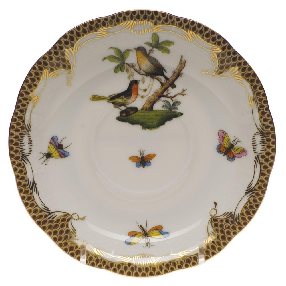 Teacup and Saucer - Rothschild Bird Brown