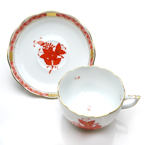 Teacup and Saucer- Chinese Bouquet (Assorted Colors)