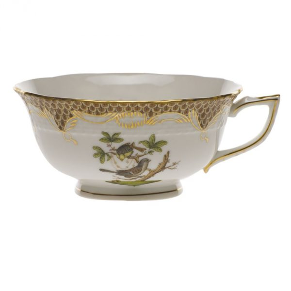 Teacup and Saucer - Rothschild Bird Brown