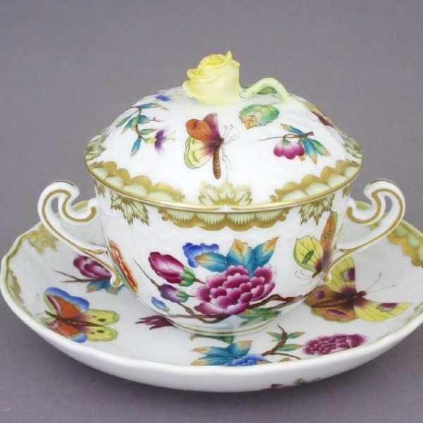 Soup Cup and Saucer, Rose Knob - Museum Victoria
