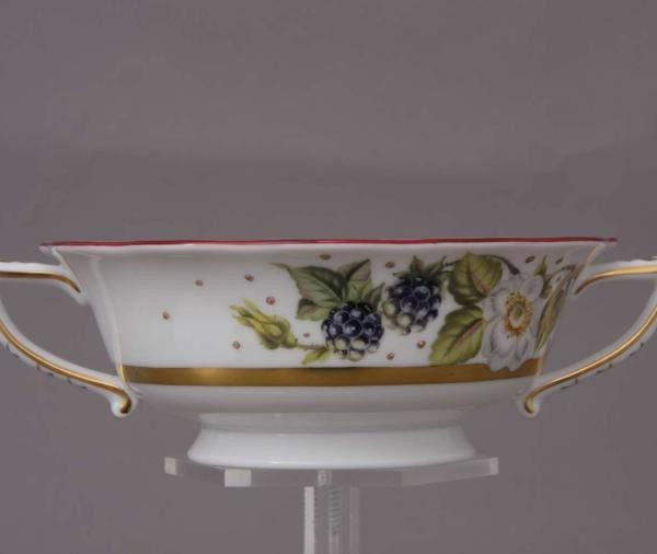 Soup Cup and Saucer- Berries Gold Edition