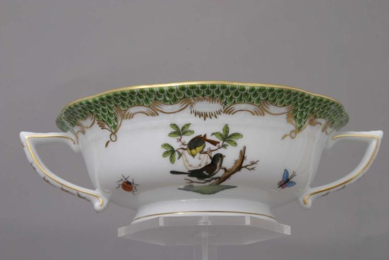 Soup Cup and Saucer - Rothschild Bird Green