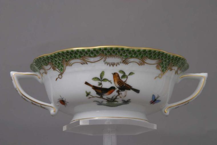 Soup Cup and Saucer - Rothschild Bird Green