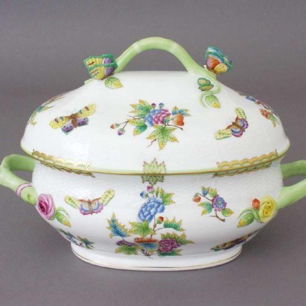 Soup tureen, butterfly knob - Queen Victoria (6 QT)