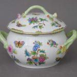 Soup tureen, branch knob - Queen Victoria (4QT)