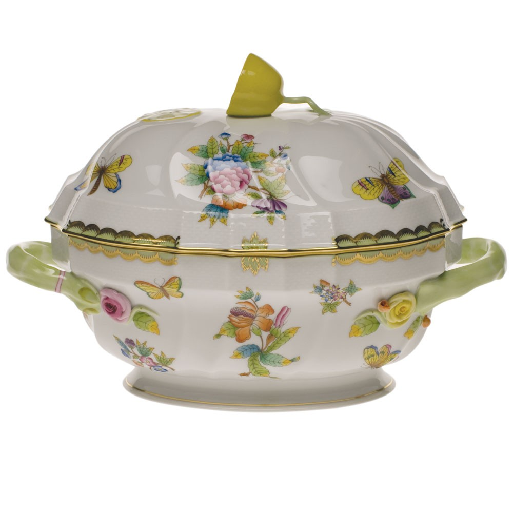 Soup tureen, lemon knob - Queen Victoria (2QT)