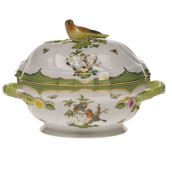 Soup tureen, bird knob - Rothschild Bird Maroone (2 QT)