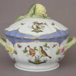 Soup tureen, cauliflower knob - Rothschild Bird Blue