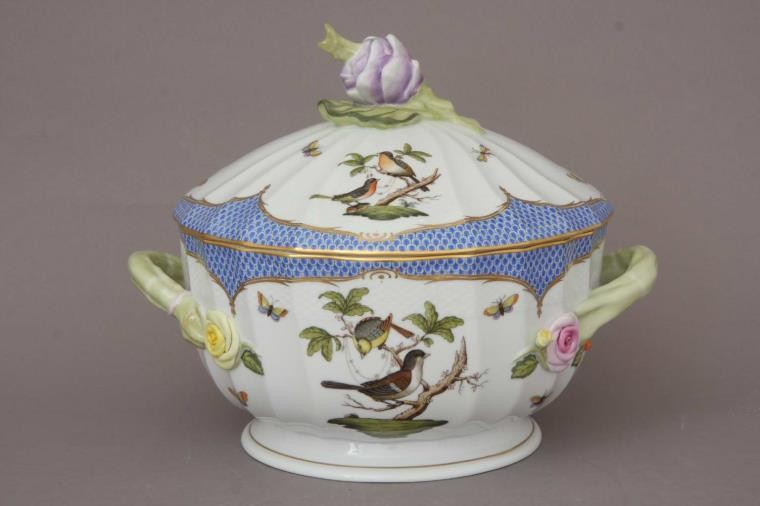 Soup tureen, kohlrabi knob - Rothschild Bird Blue (6QT)