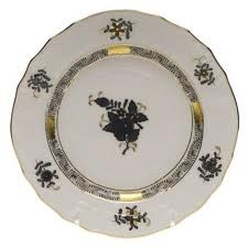 Bread & Butter Plate - Chinese Bouquet Black