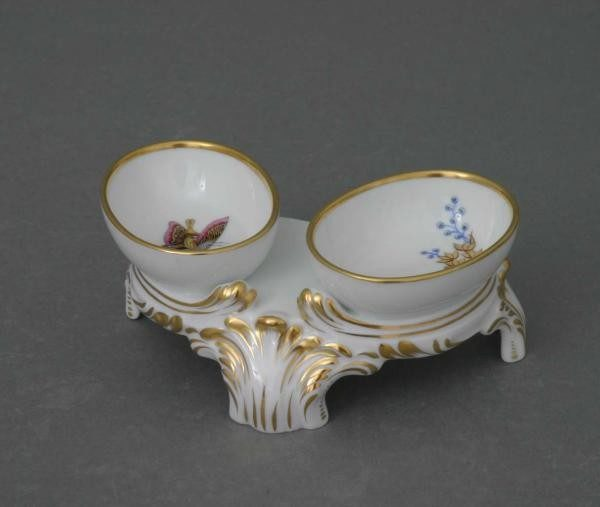 Twin salt cellar - Butterfly and Bamboo