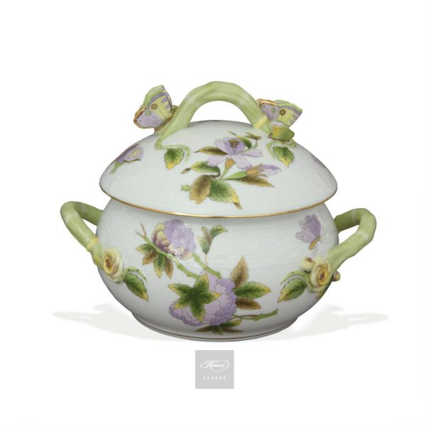 Soup tureen, butterfly knob - Royal Garden Green