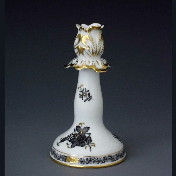 Candlestick - Chinese Bouquet Black