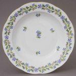 Soup Plate - Rich Petite Blue Garden