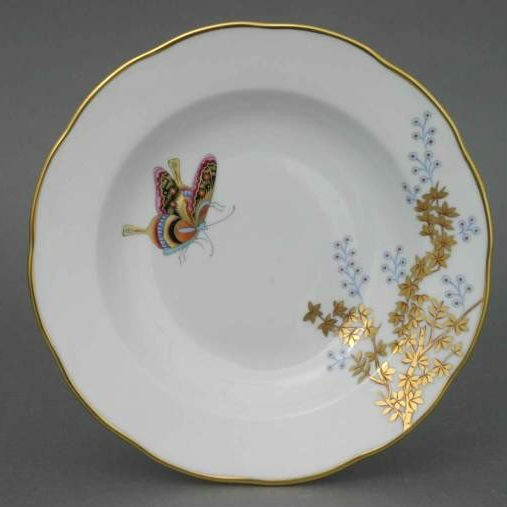 Soup Plate - Butterfly & Bamboo