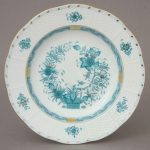 Soup Plate - Indian Basket Blue