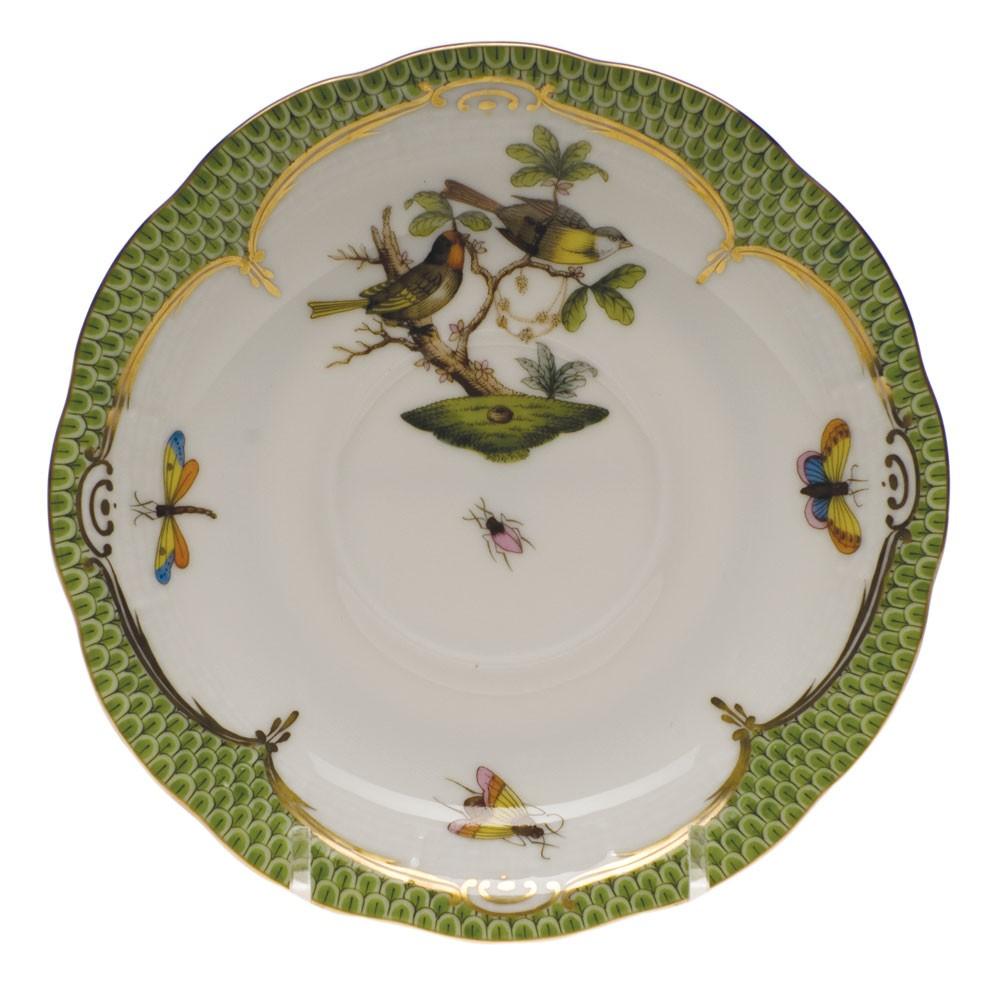Teacup and Saucer - Rothschild Bird green