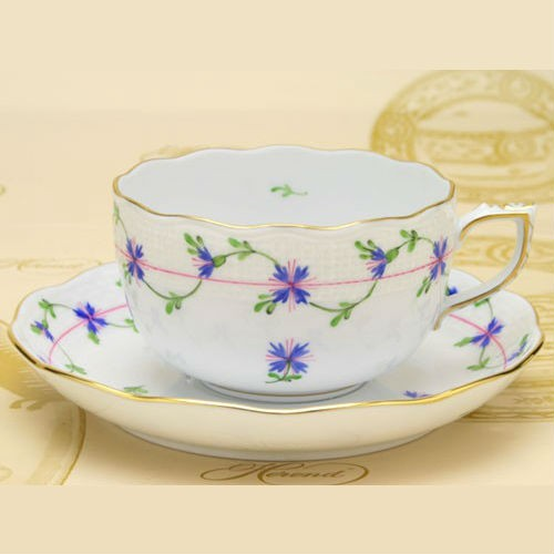 Teacup and Saucer - Petit Blue Garland