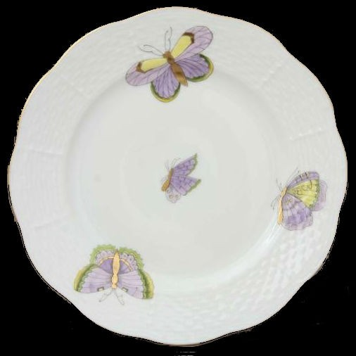 Bread & Butter Plate - Royal Garden Butterflies