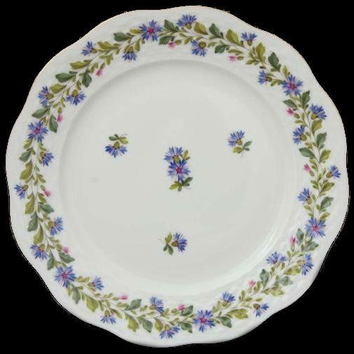 Salad Plate - Rich Petit Blue Garden