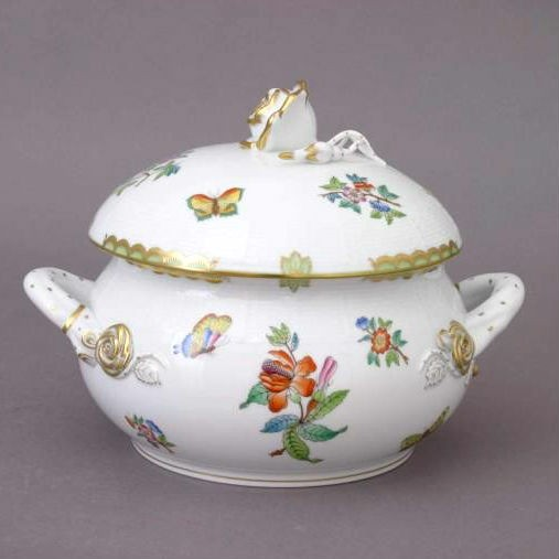 Soup tureen, rose knob - VBA-Small-Victoria