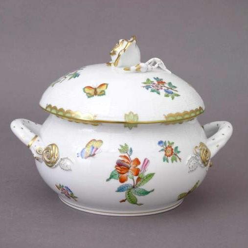 Soup tureen, rose knob - VBA-Small-Victoria
