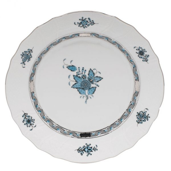 Salad Plate - Chinese Bouquet Tuquoise Platinum