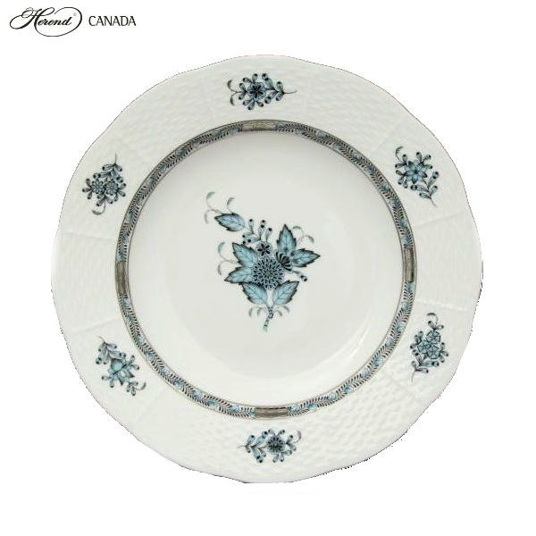 Soup Plate - Chinese Bouquet Tuquoise Platinum
