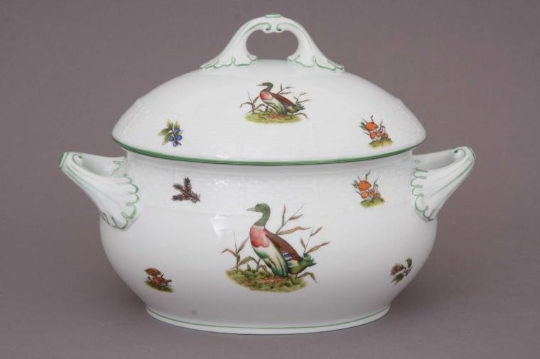 Soup tureen, strap knob - Hunting Trophies