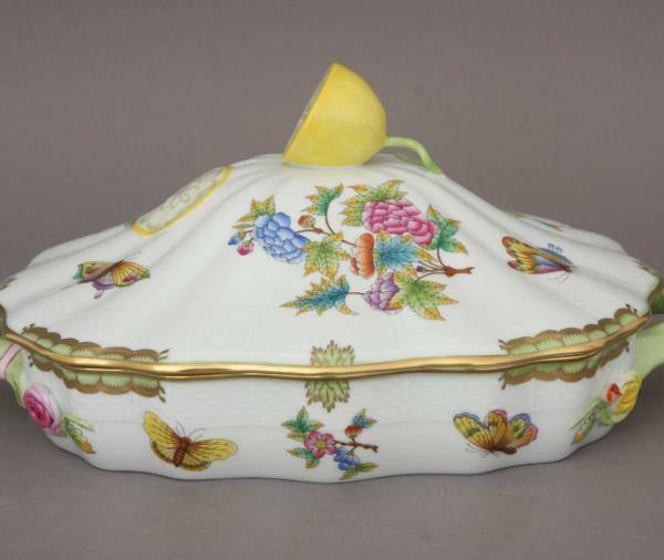 Vegetable dish, lemon knob- Queen Victoria