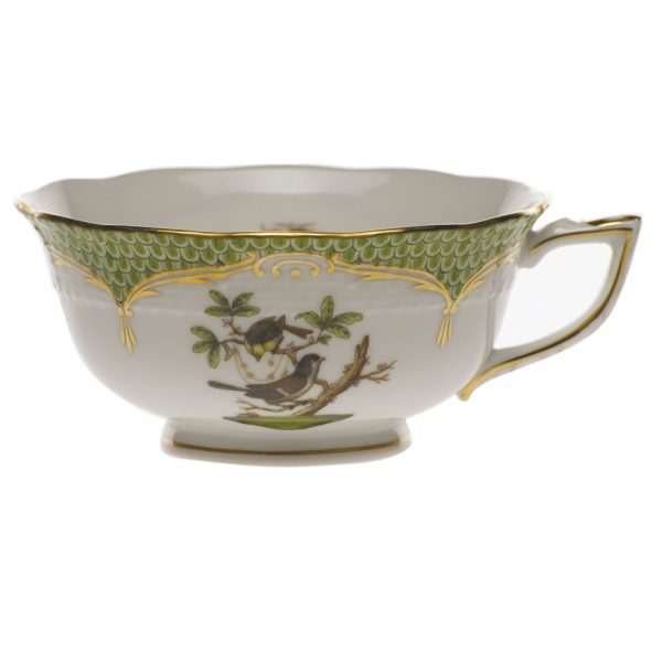 Teacup and Saucer - Rothschild Bird green