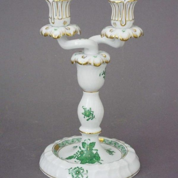 Candlestick and branch - Chinese Bouquet Green