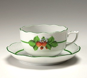 Teacup and Saucer - Fruits of Forest (Assorted Colors)