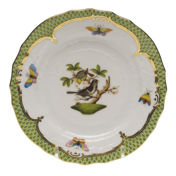 Bread & Butter Plate - Rothschild Bird Green
