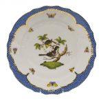 Dinner Plate - Rothschild Bird Blue