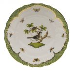 Dinner Plate - Rothshild Bird Green