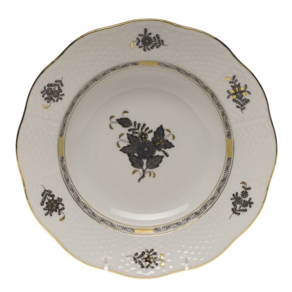 Soup Plate - Chinese Bouquet Black