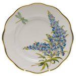 American Spring Flower Salad Plate