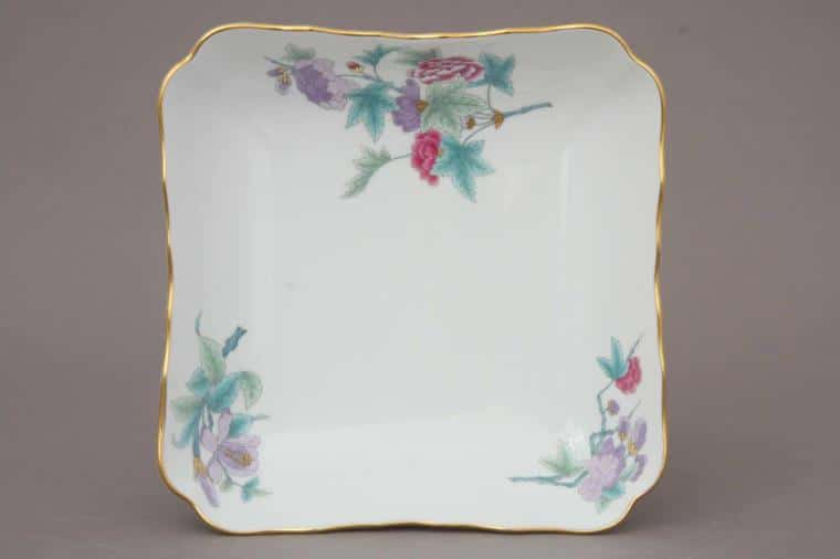 00182-0-00 EVICTF2 Royal Garden Flower Turquoise Serving Dish