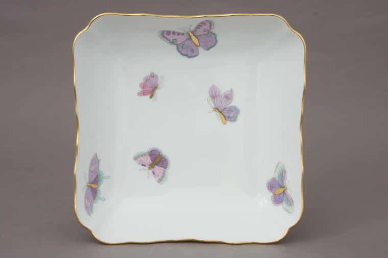 00182-0-00 EVICTP2 Royal Garden Serving Dish Garden Butterfly Turquoise