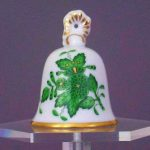 Tablebell, Baroque knob - Chinese Bouquet Green