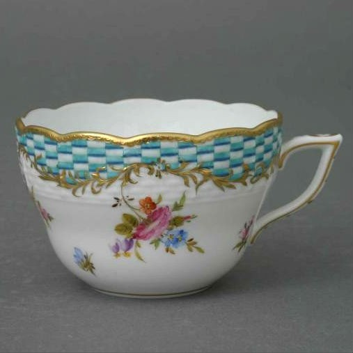 Teacup and Saucer - Turquoise Eclectic