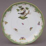 Teacup and Saucer (Large) - Rothschild Bird Green Fishnet