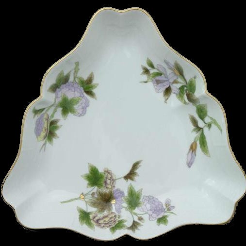 Triangle Dish - Royal Garden Flowers