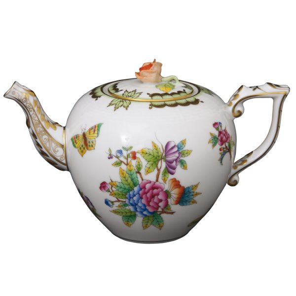Teapot, rose knob - Queen Victoria