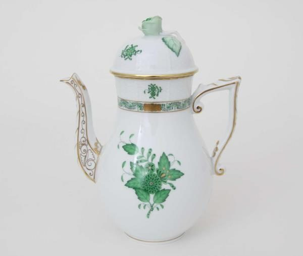 Coffee Pot, rose knob - Chinese Bouquet