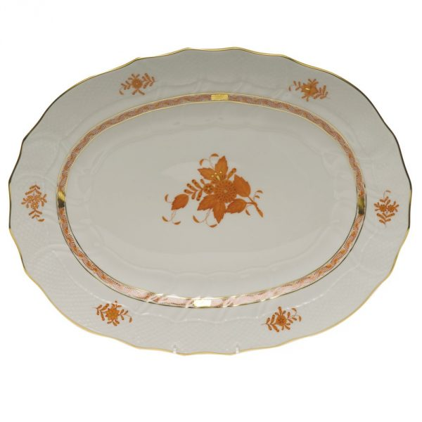 Large Oval Dish - Chinese Bouquet (Assorted Colors & Shapes)